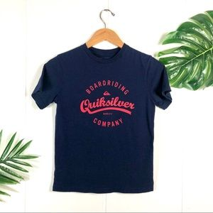 🌴QUICKSILVER Youth Navy Blue Graphic TShirt M